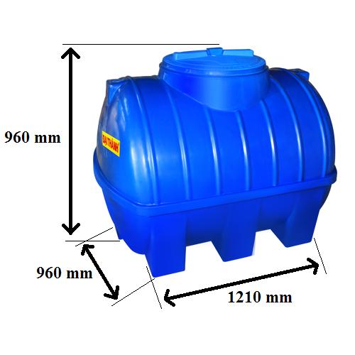 Bảng Vẽ Bồn nước nhựa 700 Lít Đại Thành Ngang