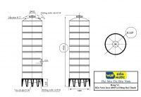 Bảng Vẽ Bồn Nước Inox 6000 Lít Đứng Đại Thành