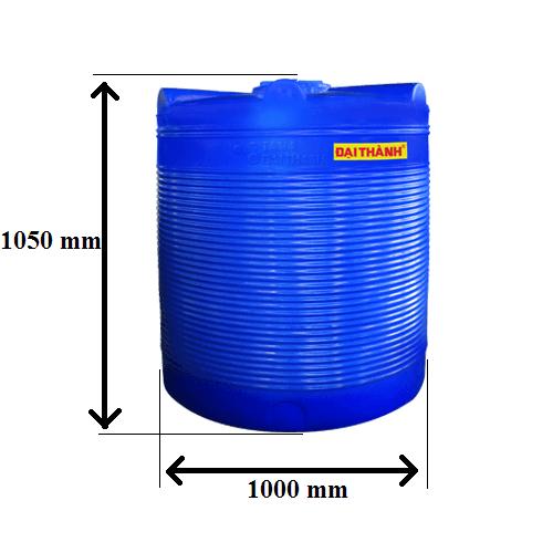 Bảng Vẽ Bồn nước nhựa 750 lít Đứng Đại Thành