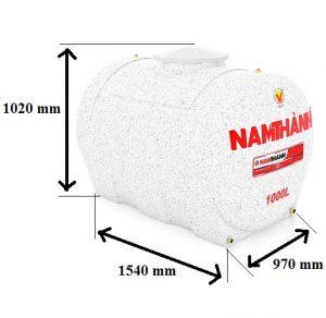 Bảng Vẽ Bồn Nước Nhựa Cao Cấp 1000 Lít Ngang Nam Thành