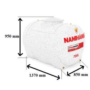 Bảng Vẽ Bồn Nước Nhựa Cao Cấp 700 Lít Ngang Nam Thành