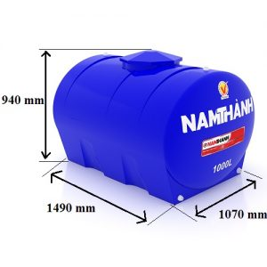 Bảng Vẽ Bồn Nước Nhựa Tiêu Chuẩn 1000 Lít Ngang Nam Thành