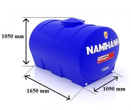 Bảng Vẽ Bồn Nước Nhựa Tiêu Chuẩn 1500 Lít Ngang Nam Thành