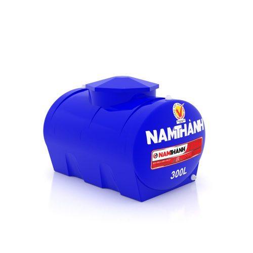 Bồn Nước Nhựa Tiêu Chuẩn 300 Lít Ngang Nam Thành
